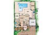 Mediterranean Style House Plan - 4 Beds 4.5 Baths 6705 Sq/Ft Plan #27-526 Floor Plan - Main Floor Plan