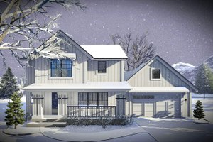 Farmhouse Exterior - Front Elevation Plan #70-1453
