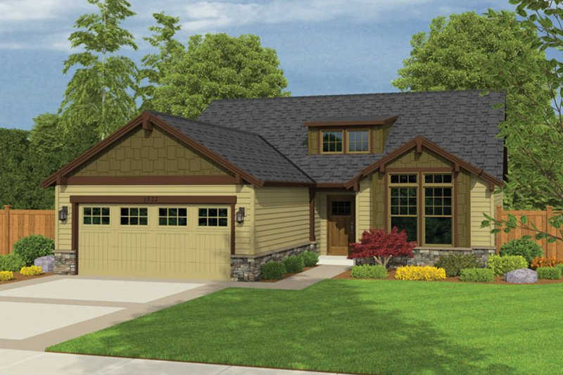 Ranch Exterior - Front Elevation Plan #943-41
