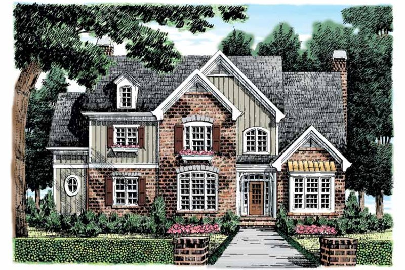 Home Plan - European Exterior - Front Elevation Plan #927-861