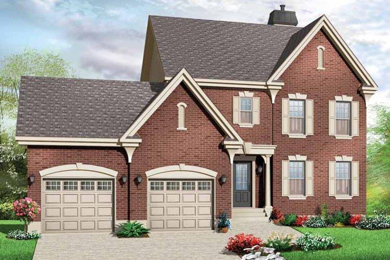 Dream House Plan - European Exterior - Front Elevation Plan #23-2428