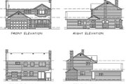 Traditional Style House Plan - 3 Beds 2.5 Baths 1748 Sq/Ft Plan #47-133 Exterior - Rear Elevation