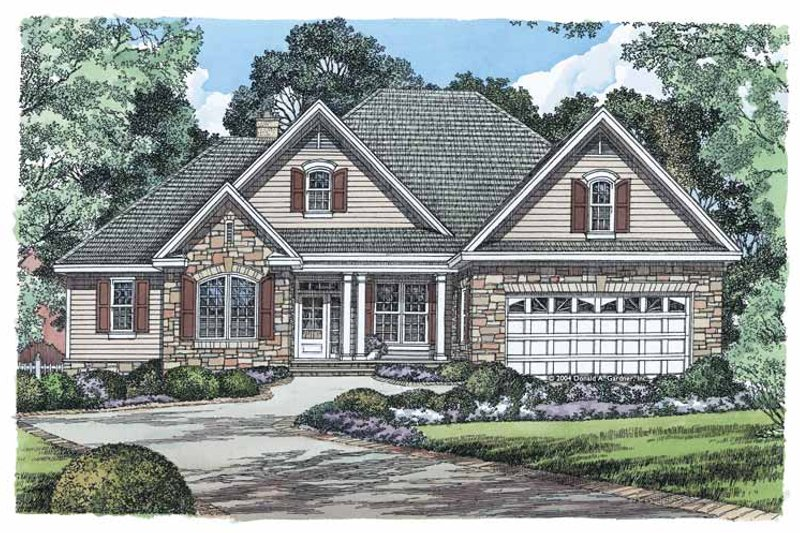 Ranch Exterior - Front Elevation Plan #929-881 - Houseplans.com