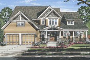 Craftsman Exterior - Front Elevation Plan #46-859