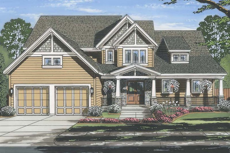 House Plan Design - Craftsman Exterior - Front Elevation Plan #46-859