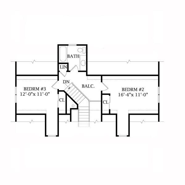Cabin Floor Plan - Upper Floor Plan Plan #456-17