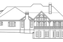 Country Exterior - Rear Elevation Plan #927-409