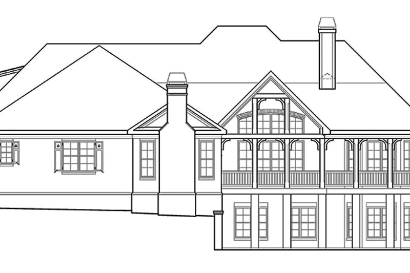 Country Exterior - Rear Elevation Plan #927-409 - Houseplans.com