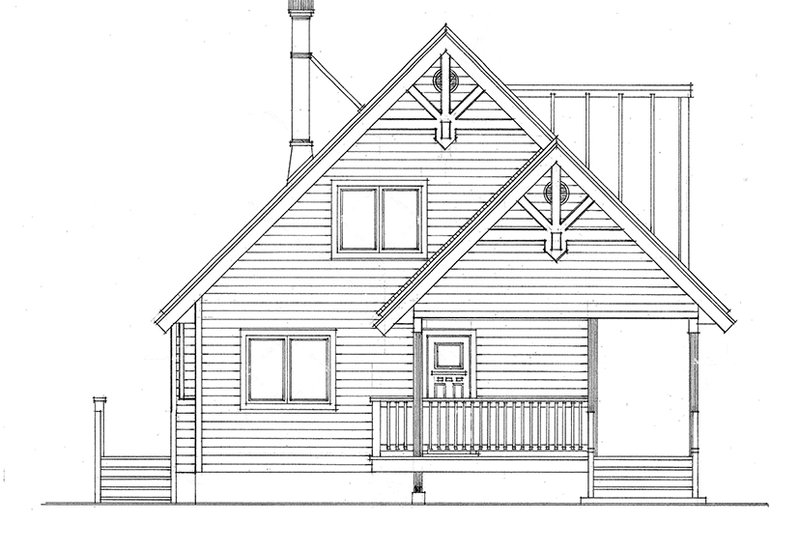 Cabin Exterior - Front Elevation Plan #118-167 - Houseplans.com