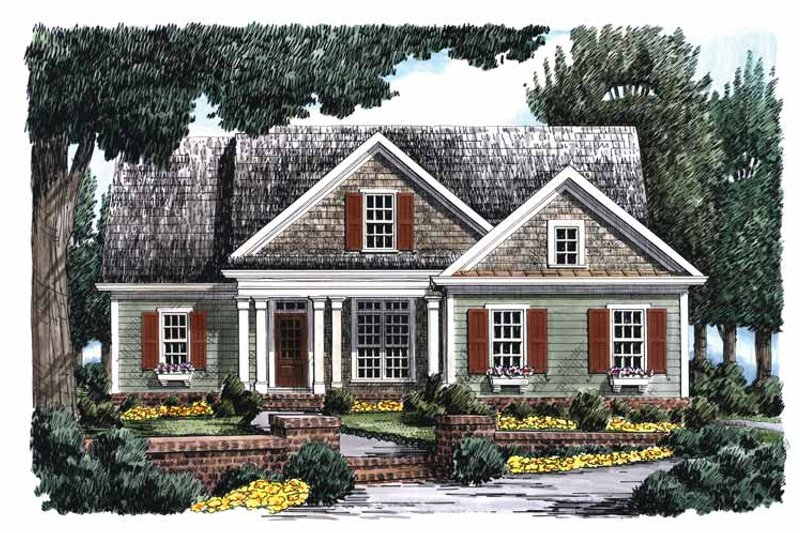 Country Exterior - Front Elevation Plan #927-698