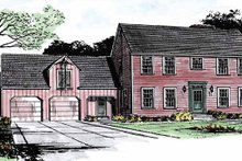 Home Plan - Colonial Exterior - Front Elevation Plan #315-119