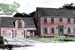 House Design - Colonial Exterior - Front Elevation Plan #315-119