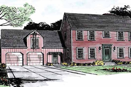 Colonial Exterior - Front Elevation Plan #315-119