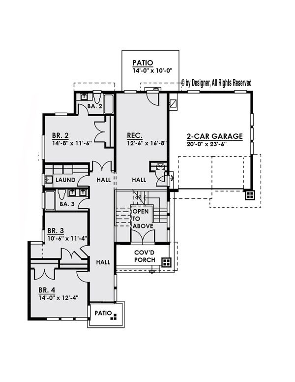 Modern Floor Plan - Main Floor Plan Plan #1066-2