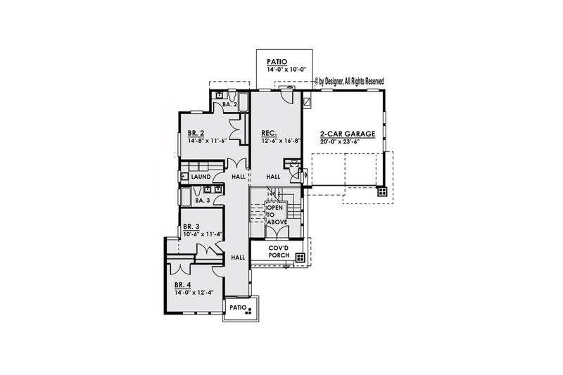 Modern Floor Plan - Main Floor Plan Plan #1066-2