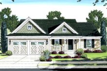 Dream House Plan - Country Exterior - Front Elevation Plan #46-411