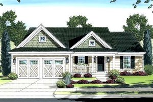 House Design - Country Exterior - Front Elevation Plan #46-411