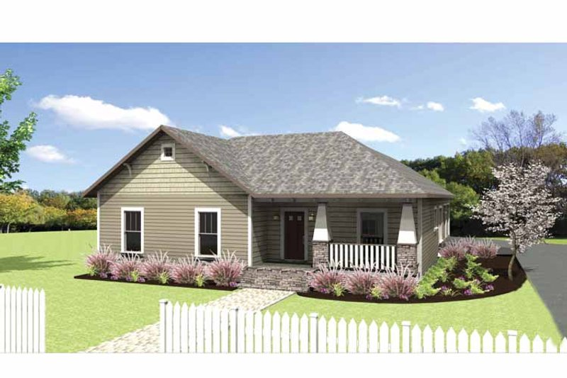 Craftsman Exterior - Front Elevation Plan #44-218 - Houseplans.com