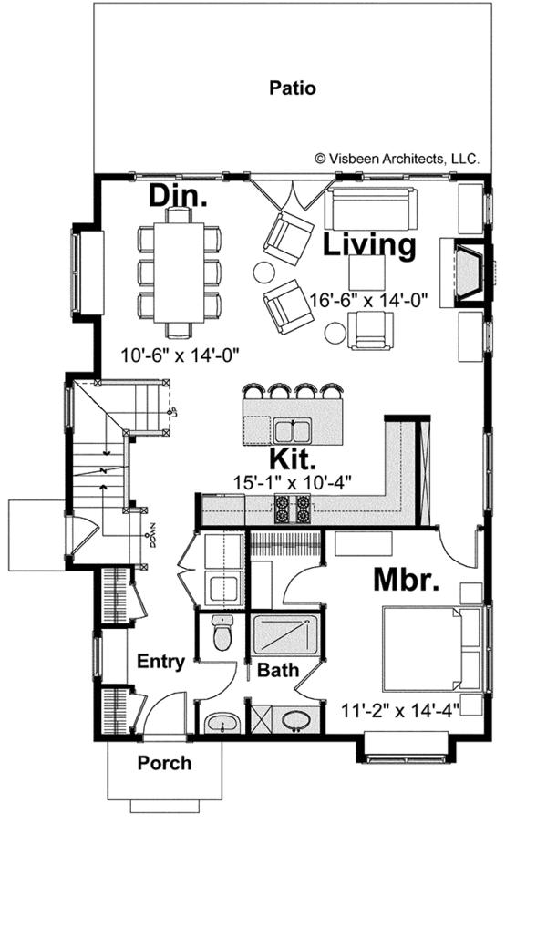 Bungalow Floor Plan - Main Floor Plan #928-191