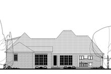 European Exterior - Rear Elevation Plan #430-131