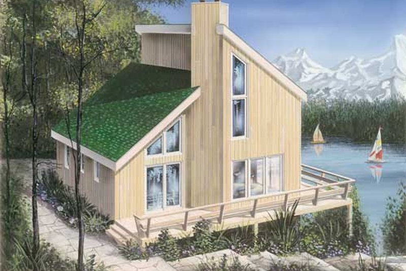 Architectural House Design - Contemporary Exterior - Front Elevation Plan #23-2175