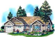 Traditional Style House Plan - 2 Beds 2 Baths 1373 Sq/Ft Plan #18-337 Exterior - Front Elevation