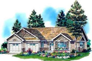 Traditional Exterior - Front Elevation Plan #18-337