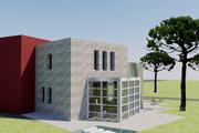 Modern Style House Plan - 3 Beds 4 Baths 1989 Sq/Ft Plan #542-3