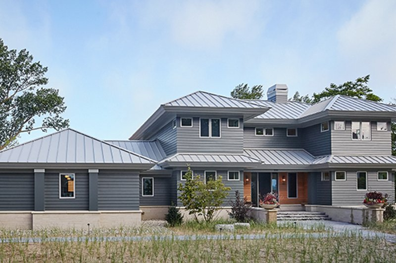 Contemporary Style House Plan - 4 Beds 5.5 Baths 3491 Sq/Ft Plan #928-291 Exterior - Front Elevation