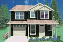 Prairie Exterior - Front Elevation Plan #509-191