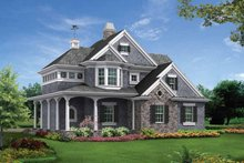 Architectural House Design - Victorian Exterior - Front Elevation Plan #132-526