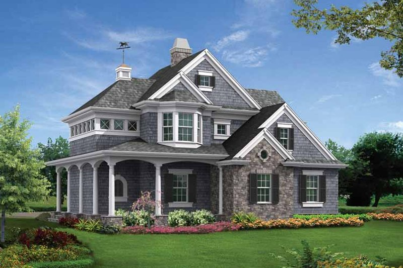 Victorian Exterior - Front Elevation Plan #132-526 - Houseplans.com