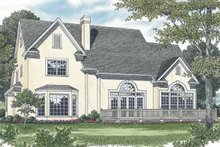 Home Plan - Traditional Exterior - Rear Elevation Plan #453-529