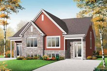 Home Plan - Traditional Exterior - Front Elevation Plan #23-2496