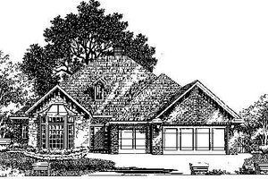 Colonial Exterior - Front Elevation Plan #310-730