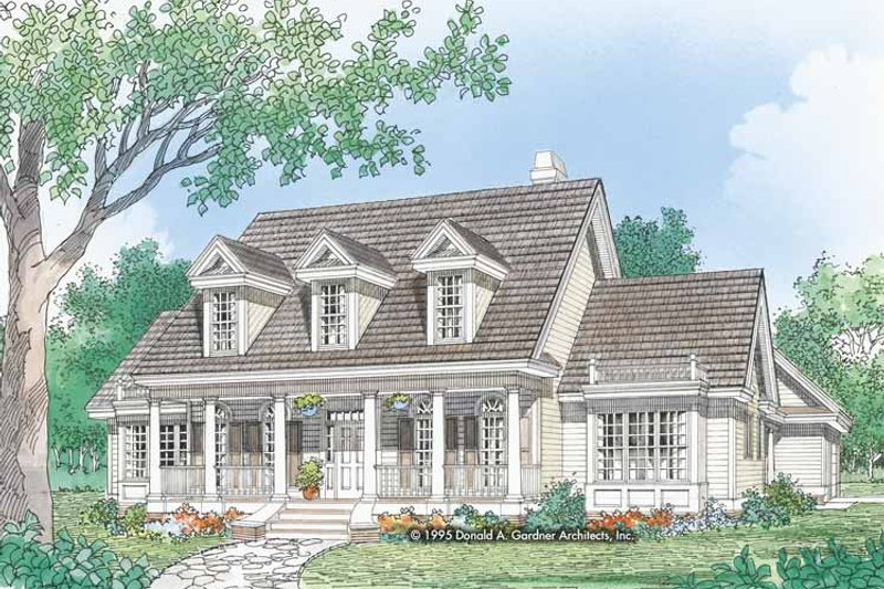 Country Exterior - Front Elevation Plan #929-457 - Houseplans.com