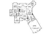 Country Style House Plan - 3 Beds 3.5 Baths 3101 Sq/Ft Plan #929-993 Floor Plan - Main Floor
