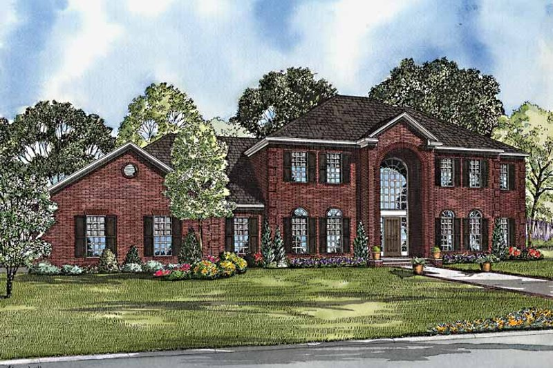 Dream House Plan - Colonial Exterior - Front Elevation Plan #17-3202