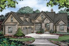 Dream House Plan - European Exterior - Front Elevation Plan #929-984