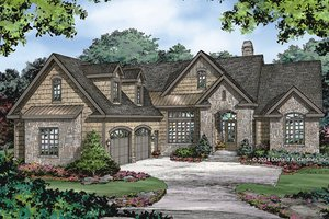House Plan Design - European Exterior - Front Elevation Plan #929-984