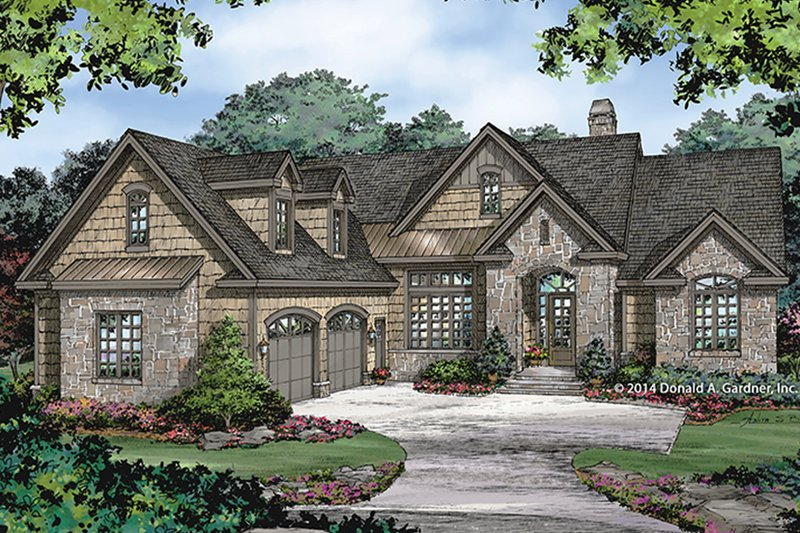 European Exterior - Front Elevation Plan #929-984