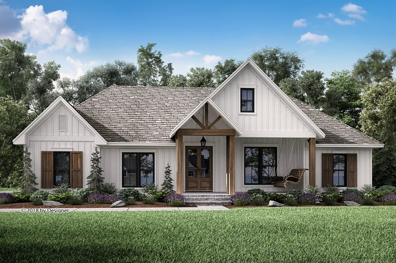 Farmhouse Style House Plan - 3 Beds 2.5 Baths 2201 Sq/Ft Plan #430-187 Exterior - Front Elevation