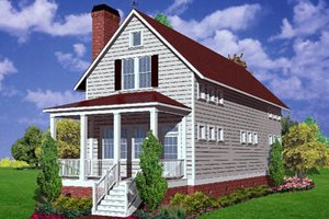Farmhouse Exterior - Front Elevation Plan #30-102