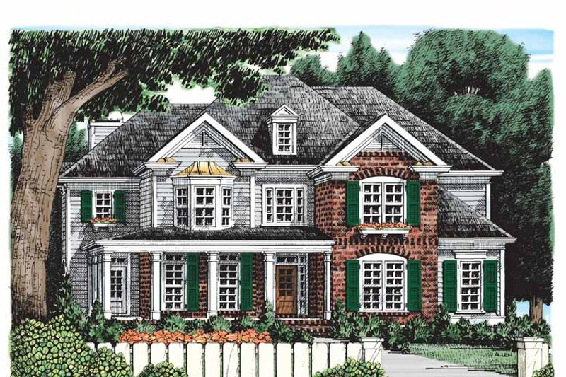 Traditional Exterior - Front Elevation Plan #927-529 - Houseplans.com