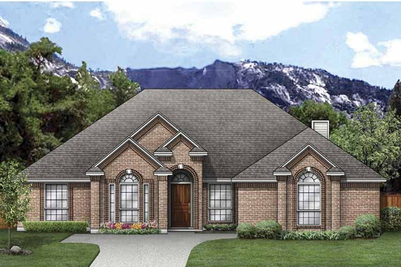 Traditional Exterior - Front Elevation Plan #84-770 - Houseplans.com