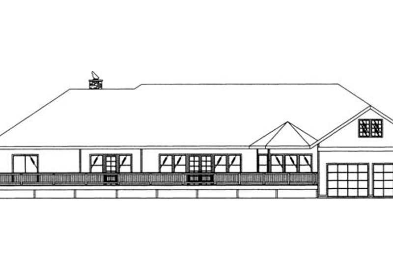 Ranch Exterior - Rear Elevation Plan #117-866 - Houseplans.com
