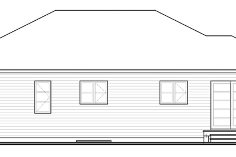 Contemporary Exterior - Rear Elevation Plan #23-2567 - Houseplans.com