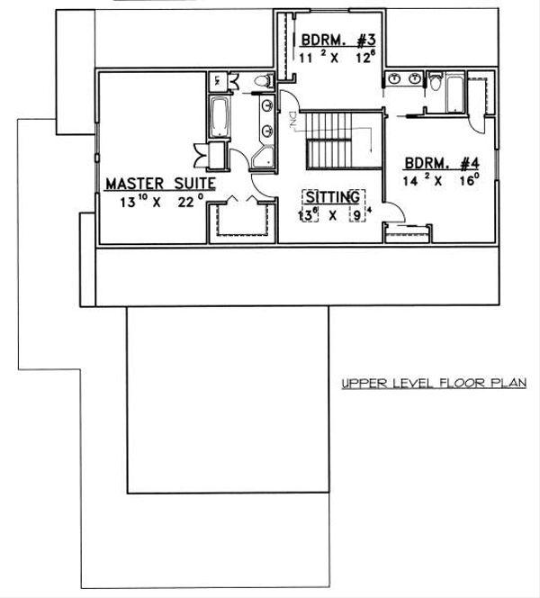Bungalow Floor Plan - Upper Floor Plan Plan #117-581