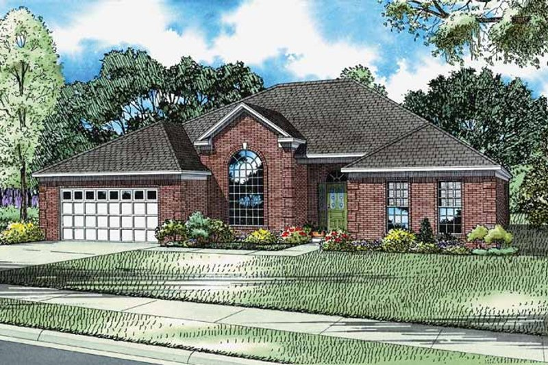 European Exterior - Front Elevation Plan #17-2695 - Houseplans.com