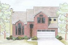 European Exterior - Front Elevation Plan #80-112